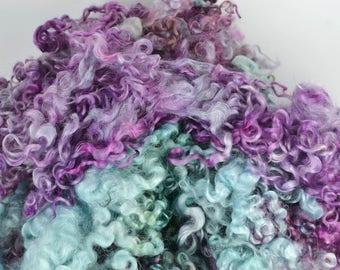 Wensleydale Long Wool Locks for Spinning and Felting Fiber- Colorway Paleta