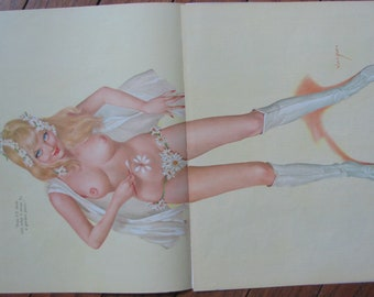 1969 September Birthday Playboy Pinup Girlie Albert Vargas Original