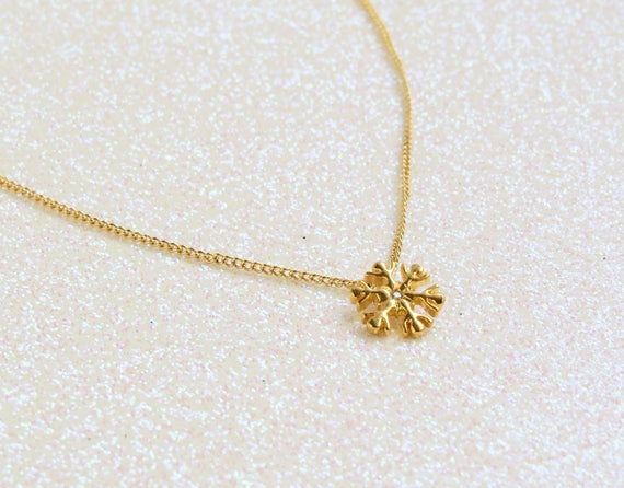 Tiny Snowflake Necklace
