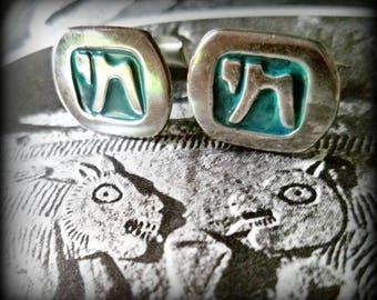 Chai Symbol of Life cuff links