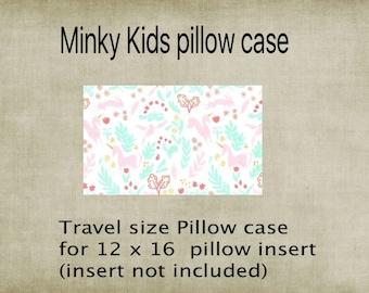 Pillowcase, Travel size pillowcase, Kids pillowcase unicorn Minky,