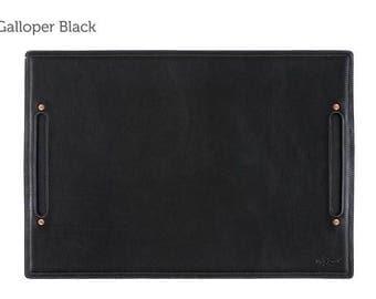 Black Large Leather Desk Pad & Desk Protector l Leather Desk Mat