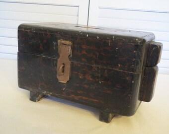 vintage Handmade Wood Storage Box