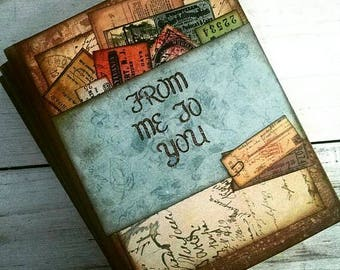 From Me To You Journal Notebook Diary Life Story Sketchbook Art Journal Keepsake with Unlined Pages Gift for Her Gift for Him