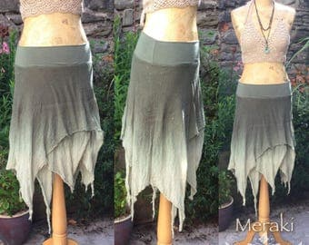 Forest Glade Floaty Pixie Fairy Skirt, Layer Skirt, Boho Skirt