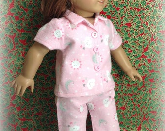 18 inch Doll Clothes-Pink pajamas