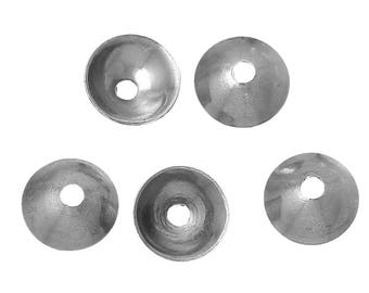 100 pcs 304 Stainless Steel Bead Caps Covers - 4mm - They work with 6mm beads - Hole Size: 0.8mm - Hypoallergenic! Tarnish Resistant!