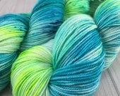 "RTS- ""Lit"", Hand Dyed, MCS, Fingering Weight, SW Merino Wool, Cashmere, Silk, Sock, Knitting, Crochet, Yarn"