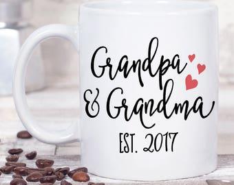 Grandma Est Mug - Grandpa Est Mug - Grandparents Day Gift - Grandpa Mug - Grandma Mug - Grandparent Coffee Mug - Grandparent Christmas Gift