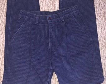 Vintage Levi's Women's Mom Jeans Blue Pin Striped Denim High Waist