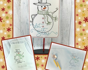 Snowman BuggaSign Embroidery Design