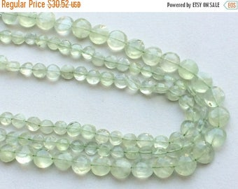 ON SALE 55% Prehnite Beads, Green Prehnite Faceted Coin Beads, Prehnite Coins, Prehnite Necklace, 6-8mm, 13 Inch, 40 pcs - RAMA122