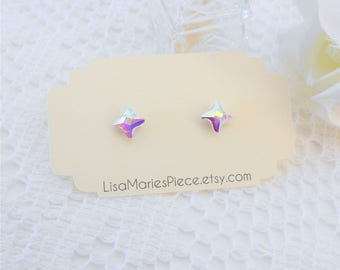Swarovski Crystal Aurora Borealis Stud Earrings, Crystal Studs, Swarovski Studs, Stud Earrings, Swarovski Earrings, Swarovski Twister