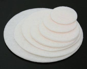 20PCS 18mm(11/16'') Ivory  Nonwoven Fabric Kraft Circle for  Flower or Corsage Professional Finished.