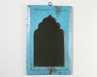 Large Moroccan Mirror Vintage Wood Frame Wall Art Distressed Jodhpur Blue Wall Mirror Moroccan Decor Turkish
