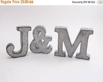 ON SALE Your Choice Letter / Small Metal Letter / Industrial Letter / Metal Letter M / Tin Metal Letter