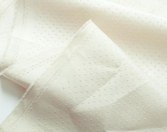 Wide Ivory Non Slip Fabric By the yard (width 63 inches) 90072