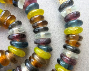 Mixed Glass Disk Beads