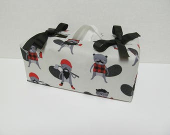 Tissue Box Cover/Beaver