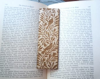 Birds In The Tree, Laser Engraved Wood Bookmark