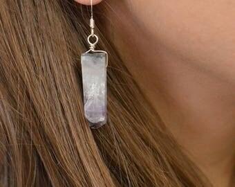 Amethyst Earrings, Gift for Her, Purple Gemstone Earrings, Amethyst Jewelry, Purple Dangle Earrings, February Birthstone