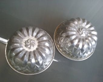 Jello Molds, Aluminum Dessert Molds, Vintage Kitchen, Serving, Ornate Dessert Molds, Baking, Cold Desserts, Fun and Funky