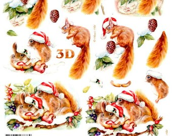 18 - 1 leaf cutting squirrels Christmas Images