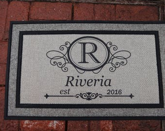 Doormat, Personalized Door Mat, Welcome Mat,  Wedding Gift,  Housewarming Gift,  Front Door Mat,  Doormat