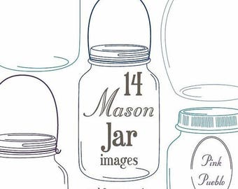 BACK TO SCHOOL Sale Mason Jars Clipart Clip Art - Commercial and Personal Use