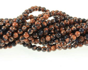 "Fusion Goldstone 6mm Beads 16"" strand"
