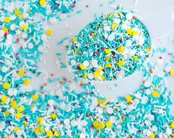 VANILLA CUPCAKE Sprinkle Medley, Vegan, Gluten-Free, Kosher, Sweetapolita