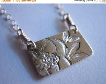 SALE Little Magnolia Sterling Silver Necklace