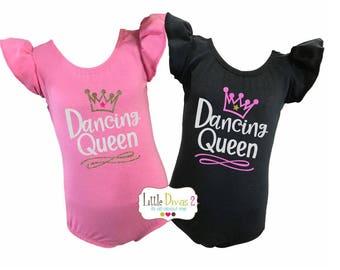 Dancing Queen - Flutter Sleeve Leotard Children's- Choose your Color Leotard