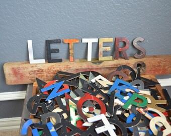 160+ Vintage Lot Chipboard Letters Alphabet Black 3 Inch Upper Case Mixed Media Art Project Bulletin Board Vintage Sign Cardboard Menu Small
