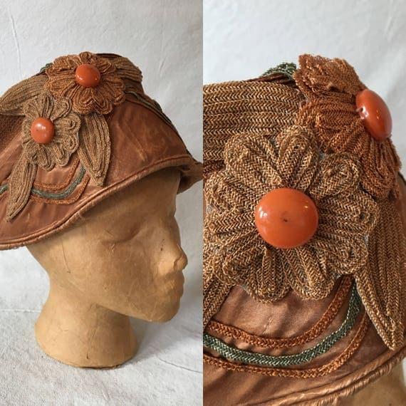 1920's Woven Raffia Cloche