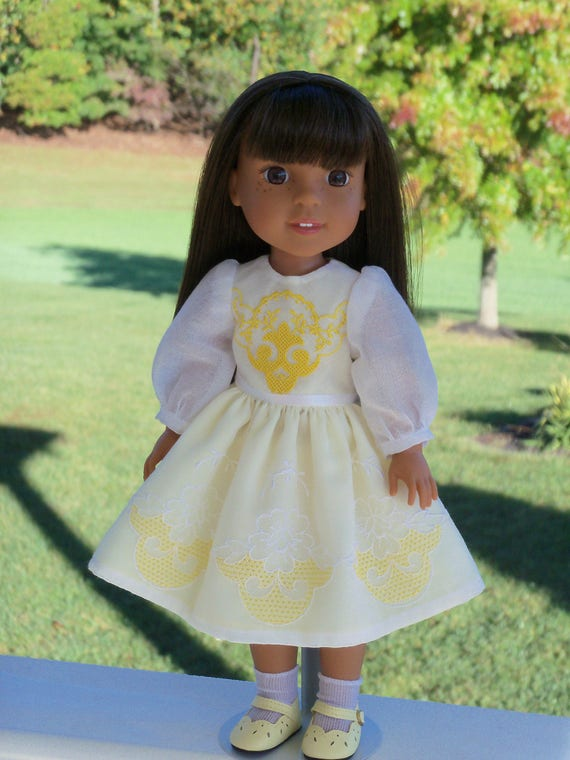 "14"" Size/   Special Occasion Dress and Shoes for American Girl Doll 14"" Wellie Wishers®"