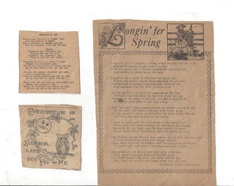 Vintage Old Newspaper Clippings of Poems and Saying, 1930s