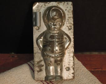 Vintage Antique German Chocolate Candy Mold / Kewpie Candy Mold / Boy Candy Mold / Gesetzl Geschutzt Mold