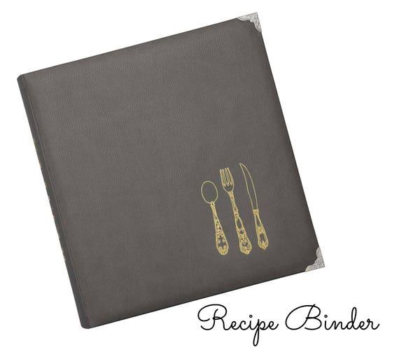 Grey Leatherette Recipe Binder