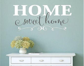 20% OFF Home Sweet Home-Vinyl Lettering wall words graphics Home decor itswritteninvinyl