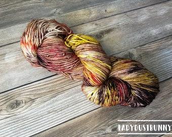 Hand Dyed Sock Yarn / Hand Dyed Yarn / Speckled Sock Yarn / Harvest Festival / Hand Dyed Yarn Sock / Sock Yarn