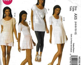 McCall's M6288 Dress Top And Skirt Tunic Sewing Pattern 6288 UNCUT Size 4, 6, 8, 10, 12