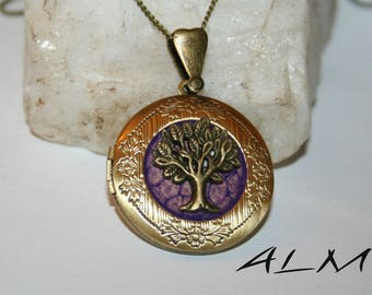 Tree of life pendant for picture with bluish pink color (p)