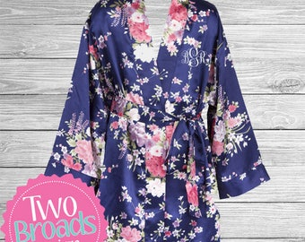 Satin Flowergirl robe, Kids Robe, Flower Girl Robe, Junior Bridesmaid Robe Childrens Robe, Ring bearer robe, White Pink Navy Satin Robe