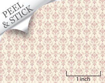 Quarter Scale Wallpaper-Peel and Stick-Bouquet, Pink