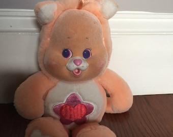 Care Bear Cousins cub lil proud heart  stuffed animal plush  80's toy