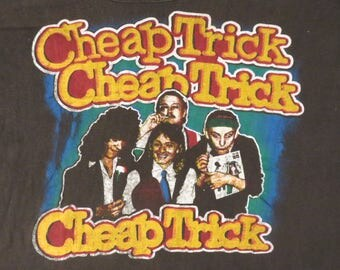 Original vintage CHEAP TRICK 70s tour T SHIRT