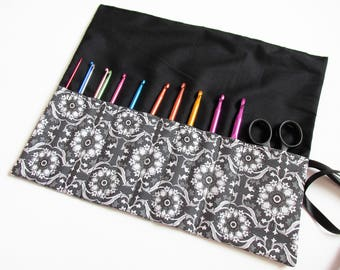Crochet Hooks, Case, Gift For Crochet fab, Craft gift, Hook Holder, Black and White, Crochet Case, UK seller, Monochrome Gift.