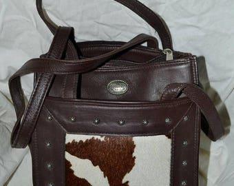 Sizzling Summer Sale Vintage handbag~American West leather Bag~Hand Made Leather Satchel~Leather Bag