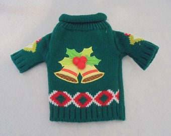 Singing Bells Ugly Sweater Wine Bottle Cover - Great Christmas Present